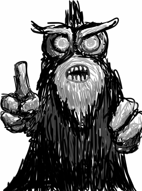 Old Man Monster Sketch