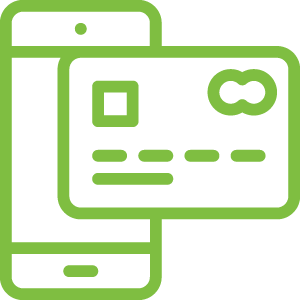 green mobile payments icon