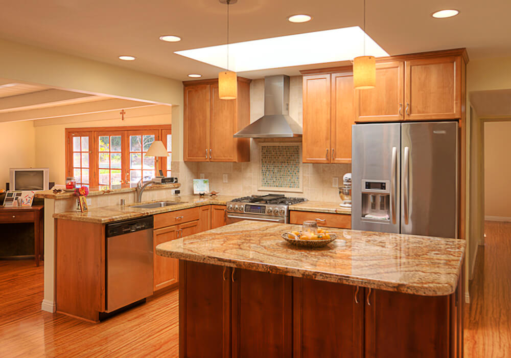 image of custom kitchen remodel in Mission Valley