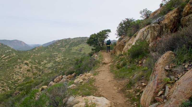 Tengo climbing to Fred Canyon