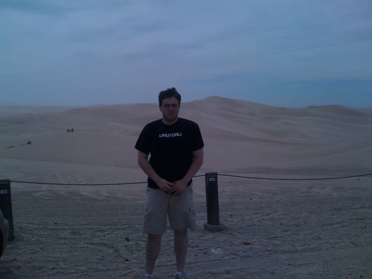 Adam at the Sand Dunes