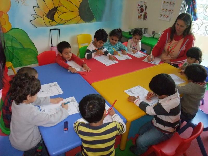 Kids playing at My Babies Nursery Abu Dhabi