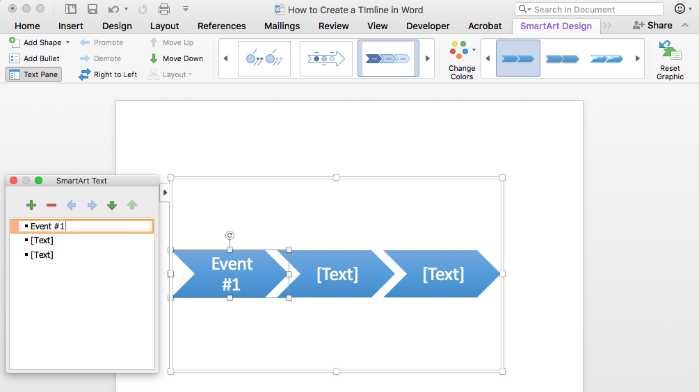 How To Make A Timeline In Word Free Template TeamGantt - Timeline templates for word