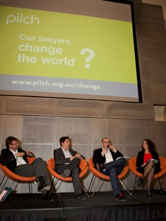 - 'Can lawyers change the world' panel