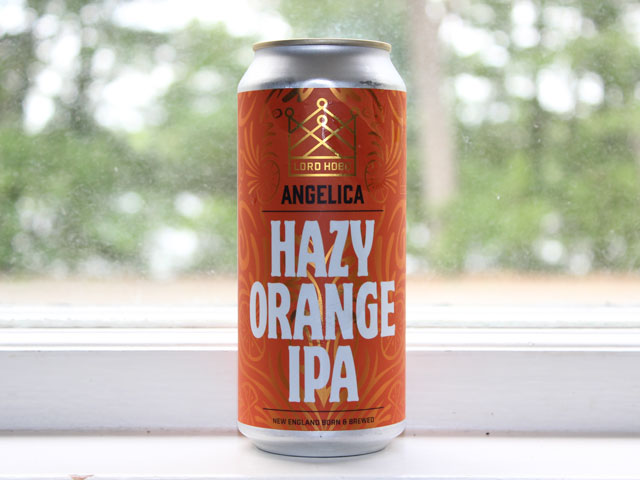 Angelica, a hazy orange IPA brewed by Lord Hobo Brewing Company