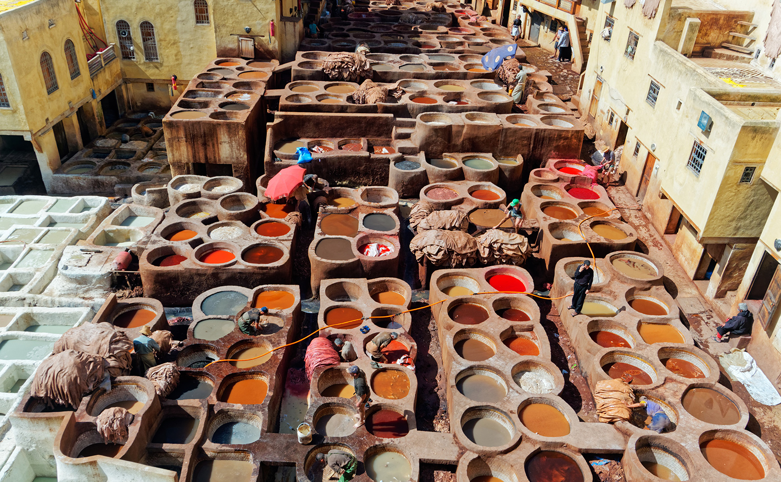 chouara leather tanneries in fez, morocco