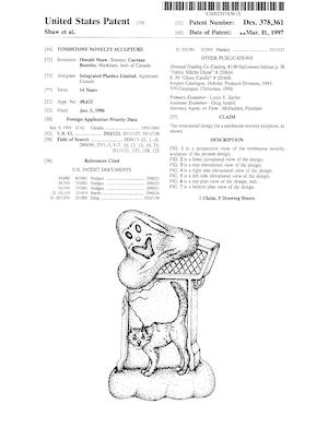 Integrated Plastics Tombstone Novelty Sculpture Patent #D378361.pdf preview