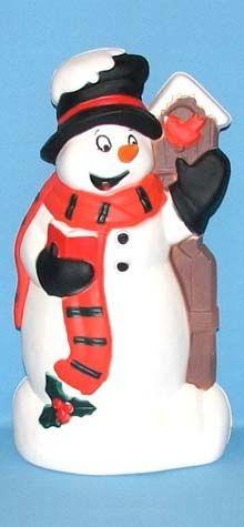 Snowman With Birdhouse photo