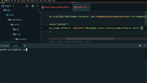 Write JavaScript in PHTML templates using RequireJS