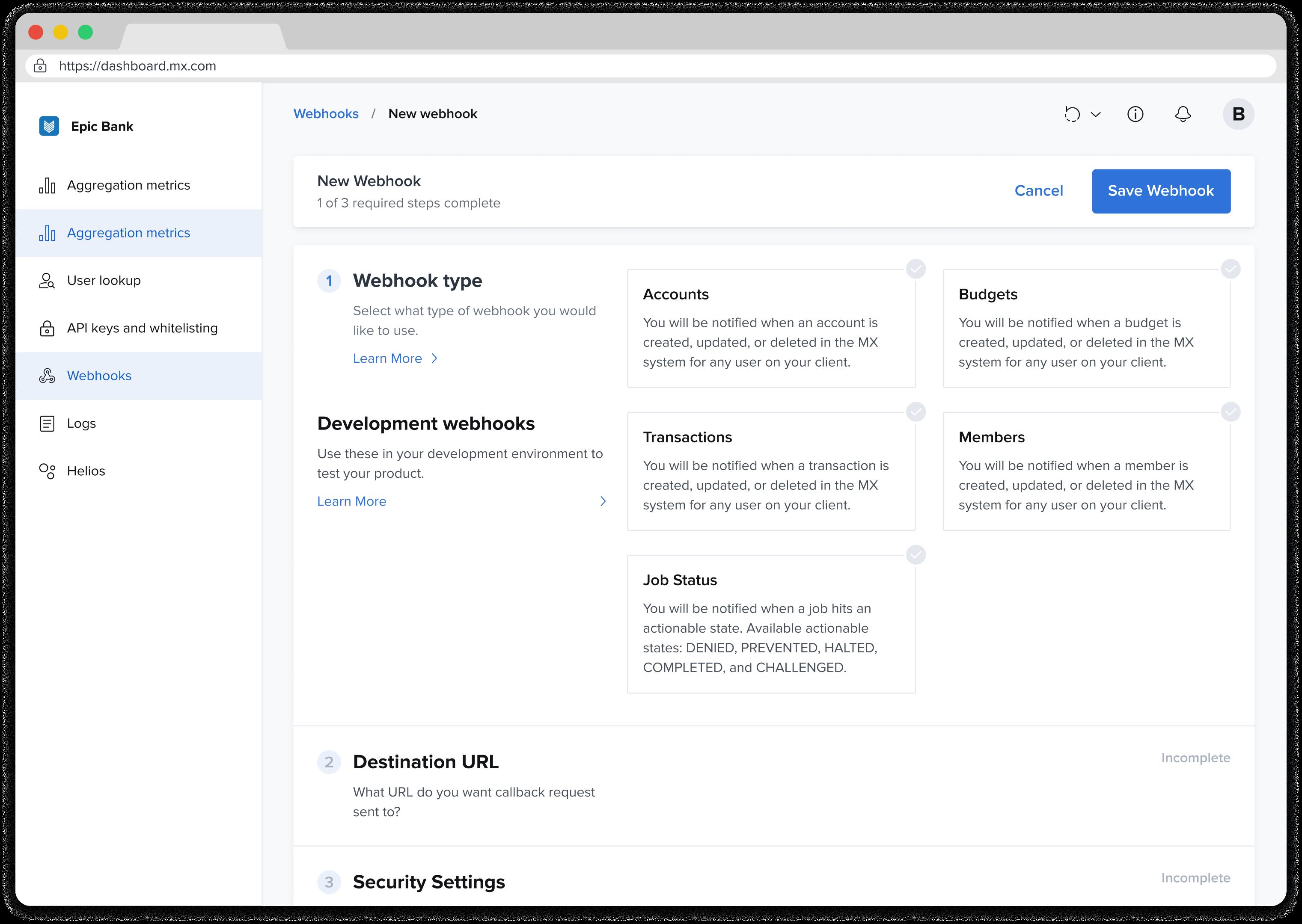 mx client portal example screen
