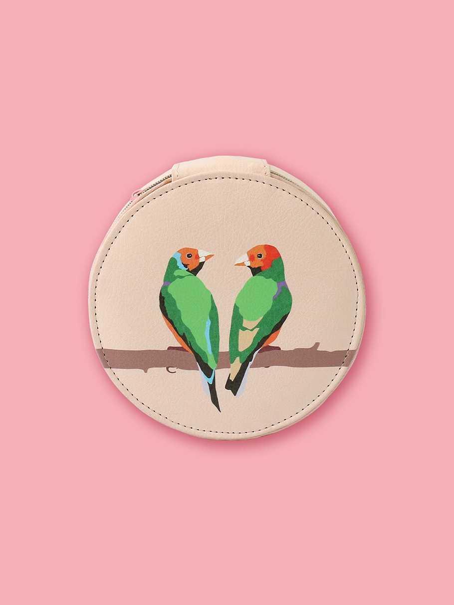 Lovebirds Travel Jewellery Case