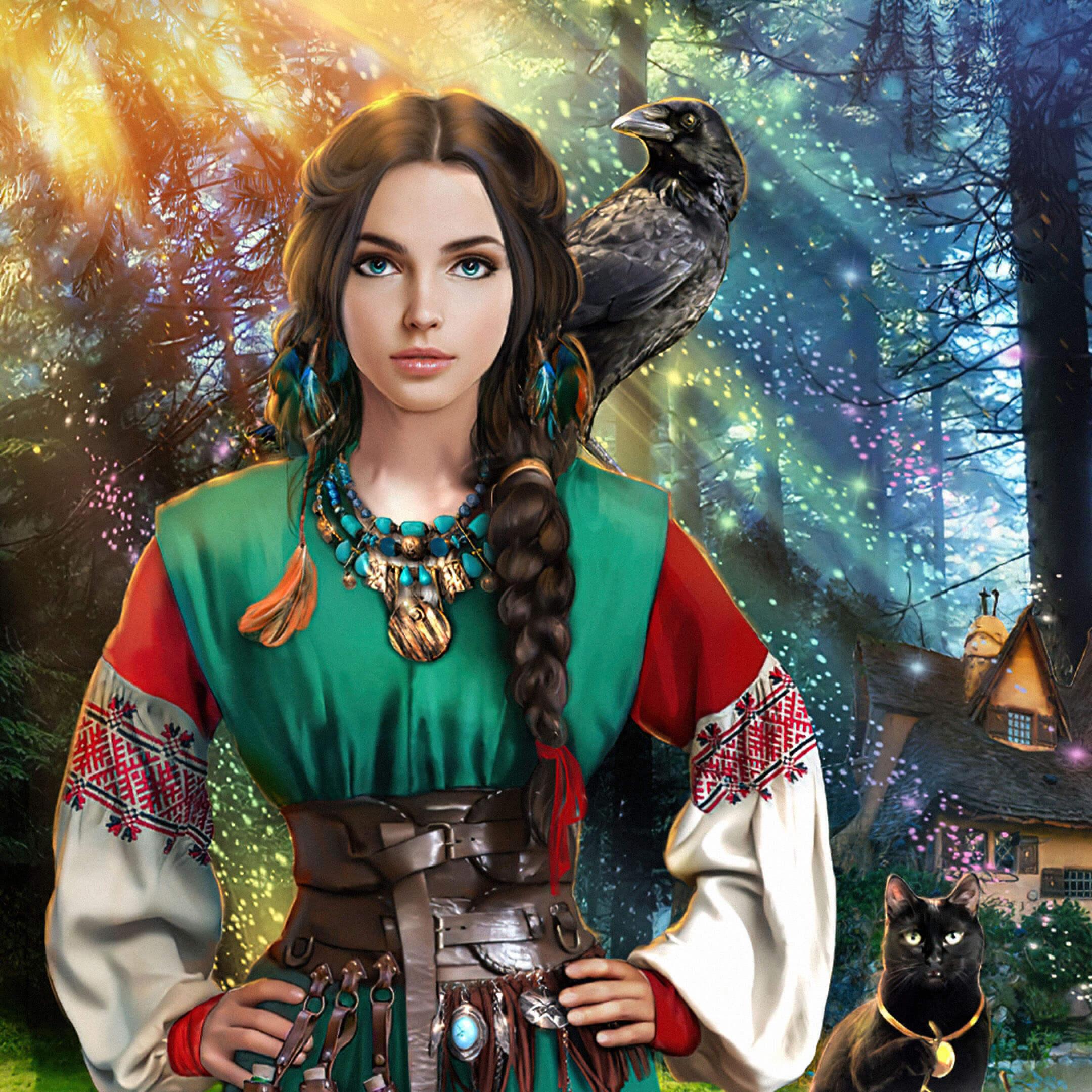 Иллюстрация собложки книги Елены Звездной «Лесная ведунья»