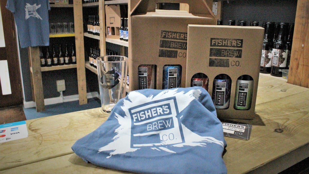 The Fisher's branded t-shirt