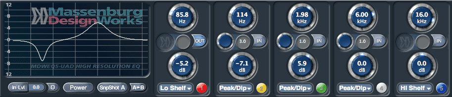 Massenburg EQ plugin picture