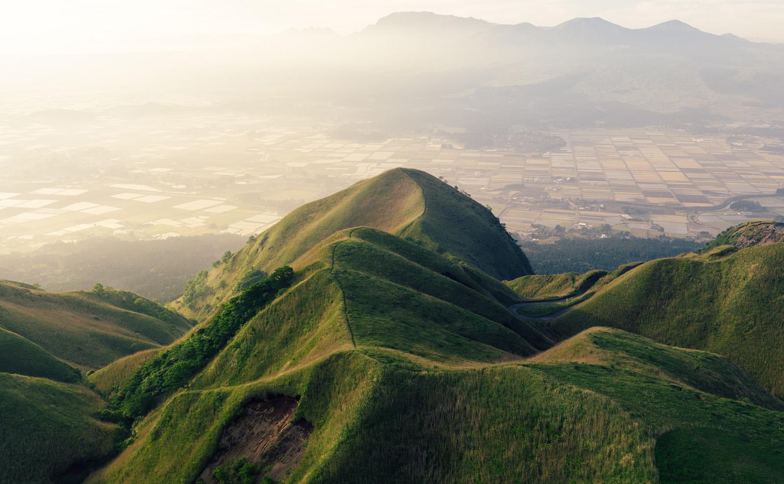 Mount Aso in Aso, Japan