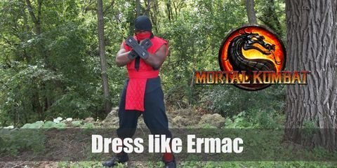 Ermac is quite a unique and more complex character than any other in the series. No matter how convoluted his back story is, his origin in the series remains humble. Ermac started out with the same ninja costume that characters like Scorpion and Sub Zero wore but his is in the color red.