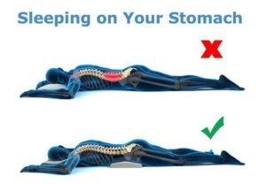 sleep on your stomach joint pain relief