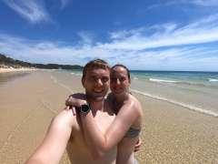 Us on the beach