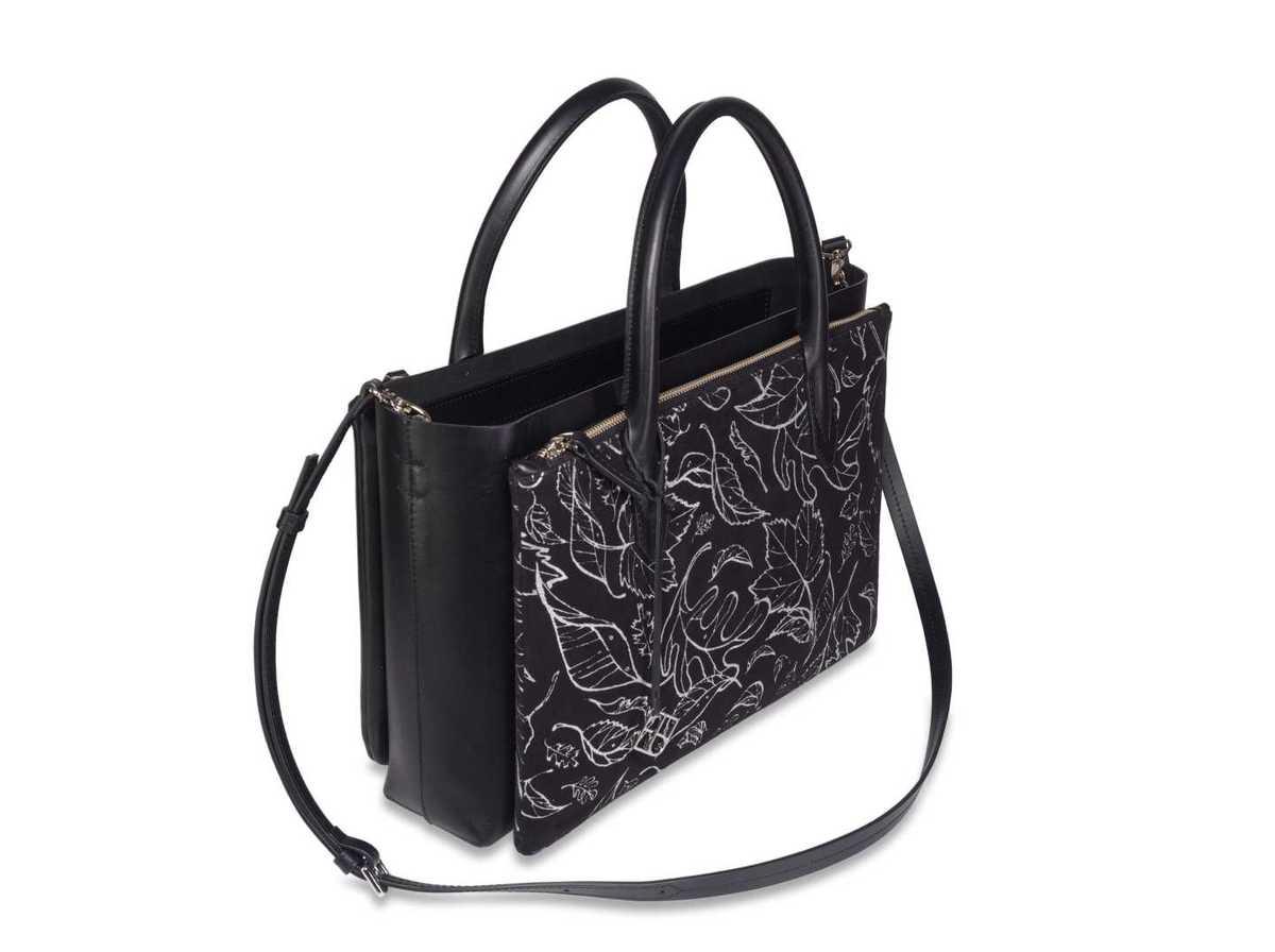 Caya Shopper - black and silver