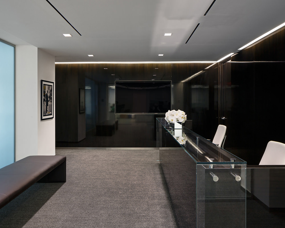 Dark Wooden Walls With Reflective Glass Exterior Paneling