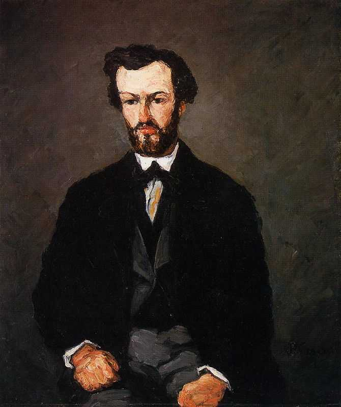 """'Portrait of Anthony Valabregue' by Paul Cezanne, 1866 was highly critized saying: """"painted with a pistol"""""""