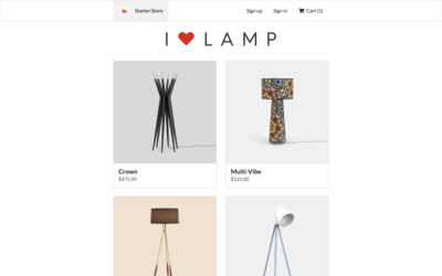 Screenshot of a page created with Gatsby Starter eCommerce