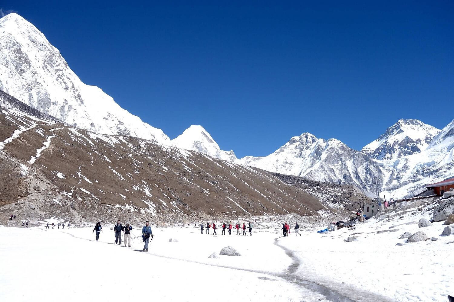 Trekkers Going to Everest Base Camp