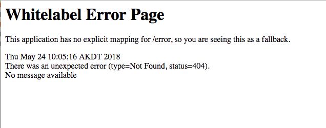 Default Spring 404 error page