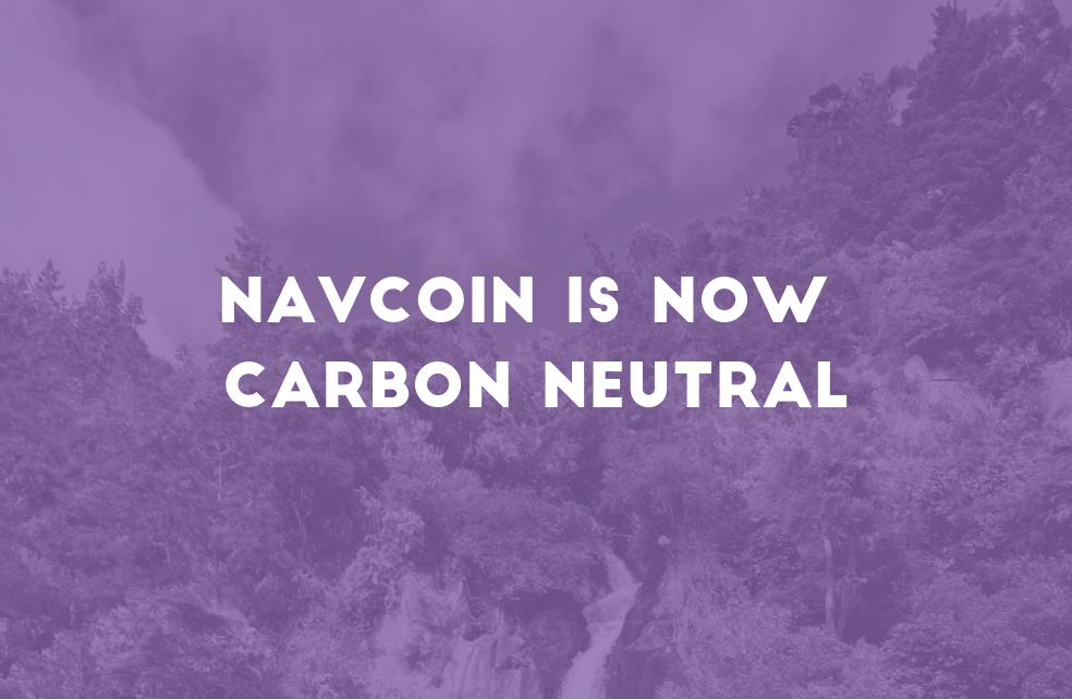 NavCoin is now Carbon Neutral