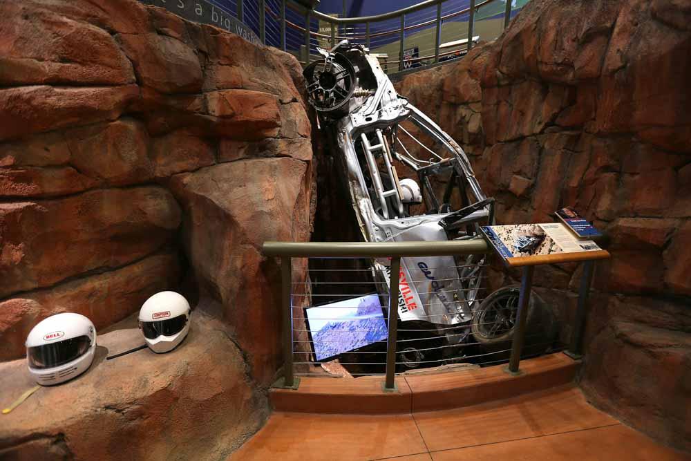 Pikes Peak Hill Climb Experience Museum car crash