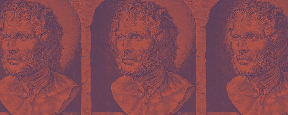 illustration of a bust of seneca the younger