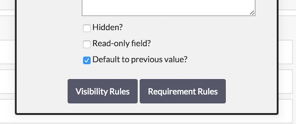 Default to Previous Value?