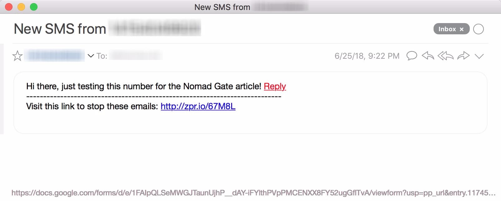 Sweet! In the email you now should have received you can see the Reply link. Click it!;