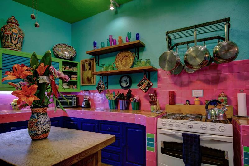 We have had parties at Casa del Alma serving as many as 50 - 60 people out of this kitchen.