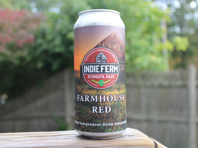 Farmhouse Red, a brewed by Independent Fermentations Brewing