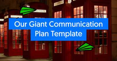 Our Giant Communication Plan Template (Plus 7 other Greats) image