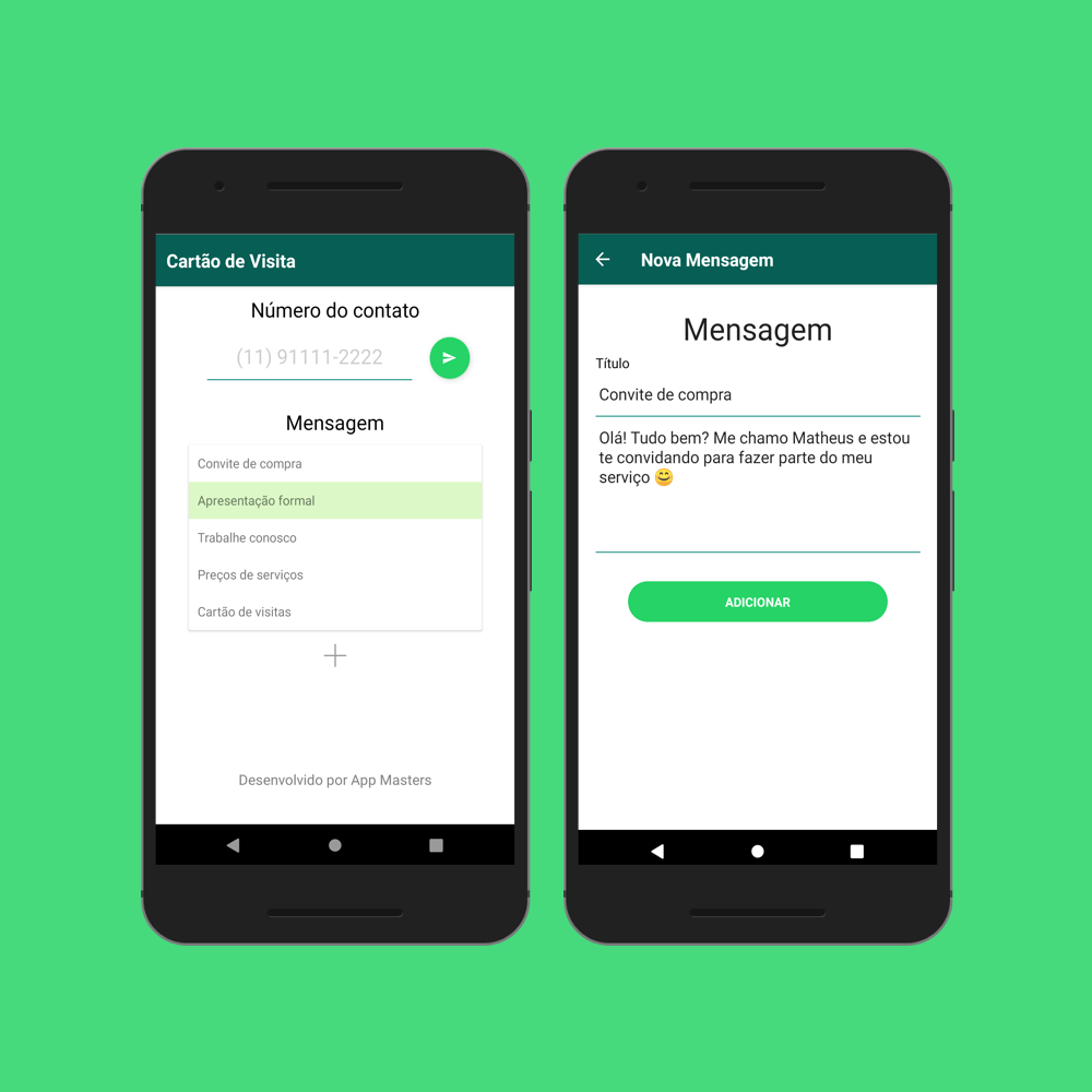 WhatsApp Visit Card