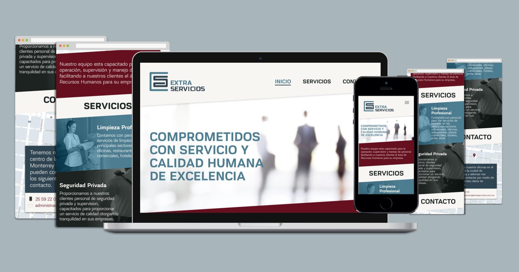 Extra Servicios website
