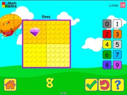 Minicomputer: Represent numbers up to 10 (typing) Math Game