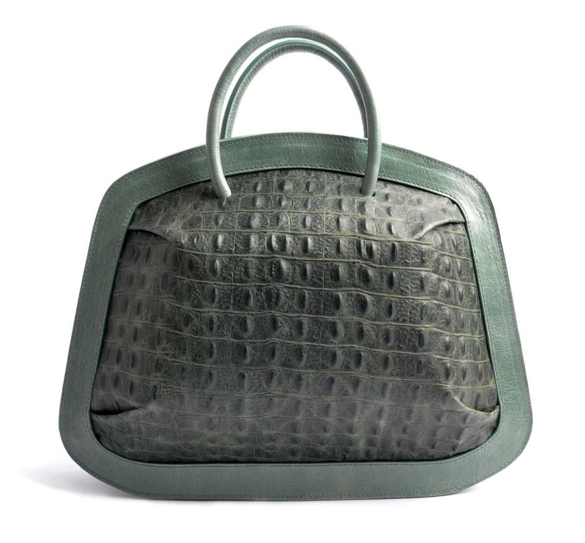 BUBBLE Tote – croc green