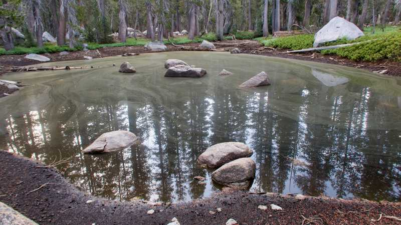 A pond on Bailey Ridge