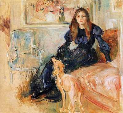 'Julie Manet et son Lévrier Laerte' painted by Berthe Morisot in 1893, Musée Marmottan Monet
