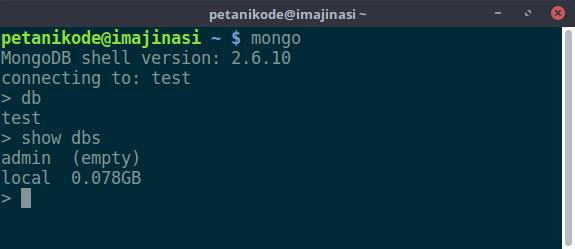 Melihat daftar database di server