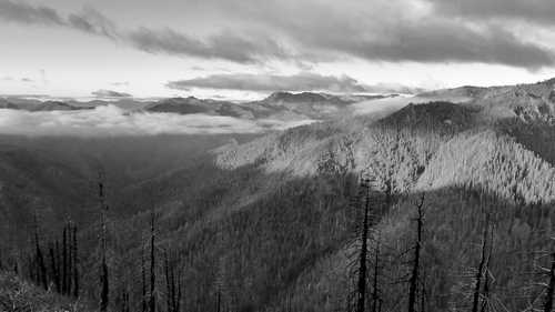 Morning clouds in Marble Mountains Wilderness