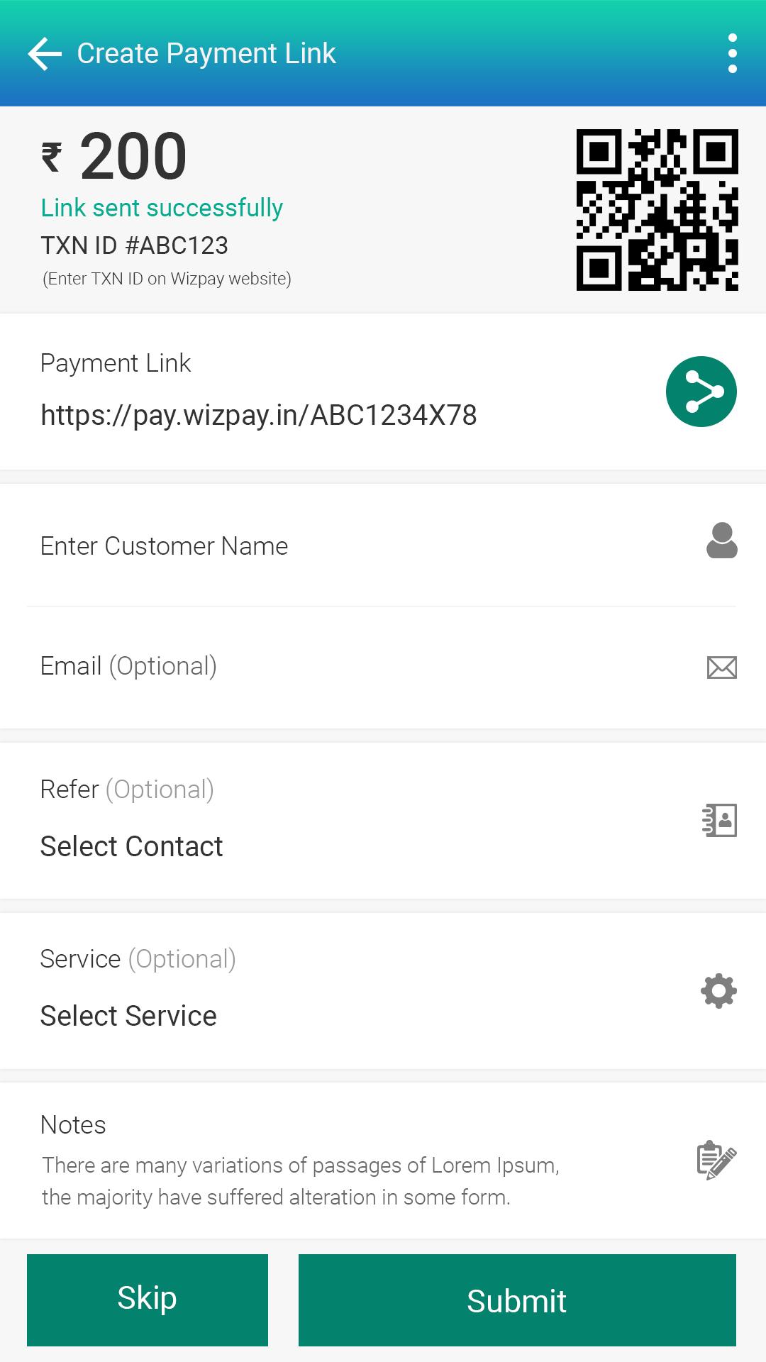 Wizpay Mobile banking, ewallet, POS, inventory management app Screenshot 6