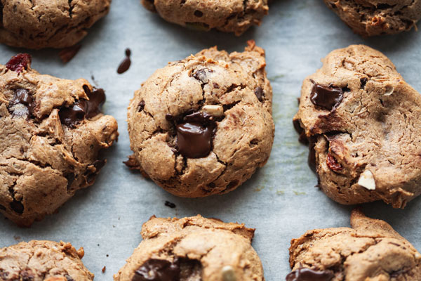 Almond Butter Trail Mix Cookies