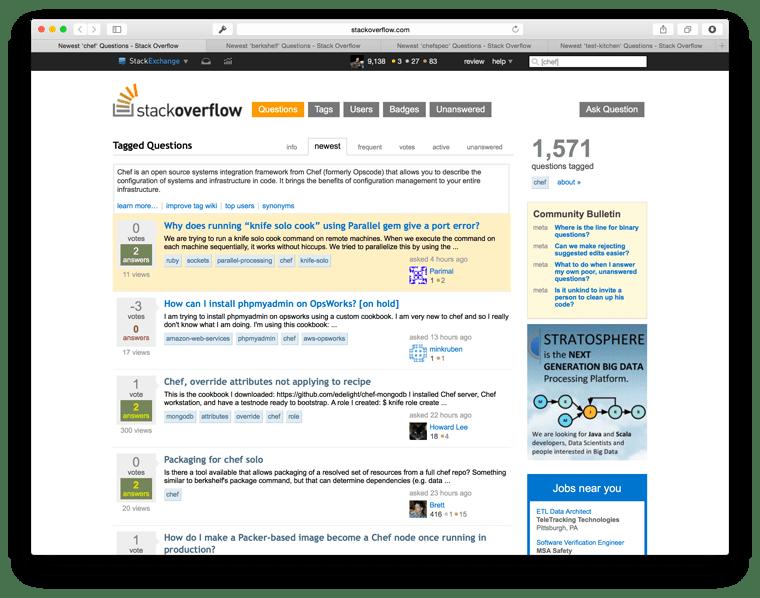 StackOverflow tabs