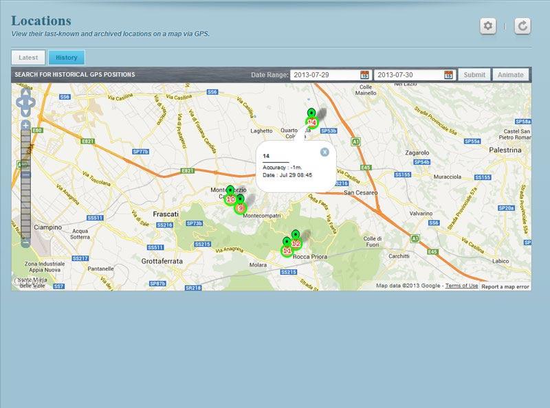 panel penyadap & lacak lokasi GPS hp