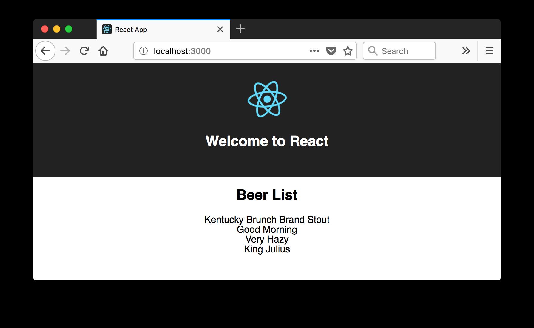 Beer List in React