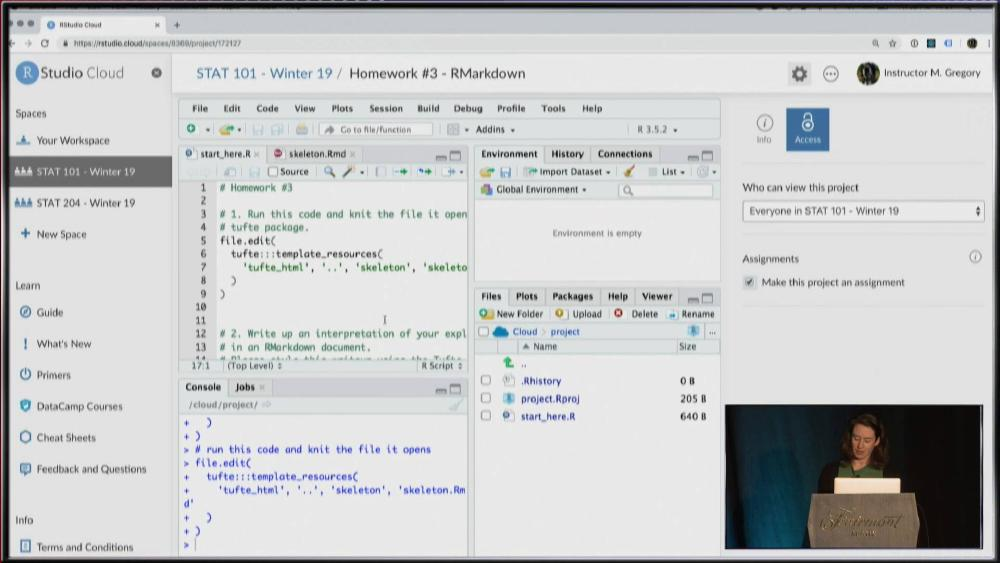 RStudio Cloud for education